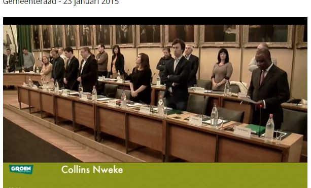 Minute Silence for Nigeria at Ostend City Council
